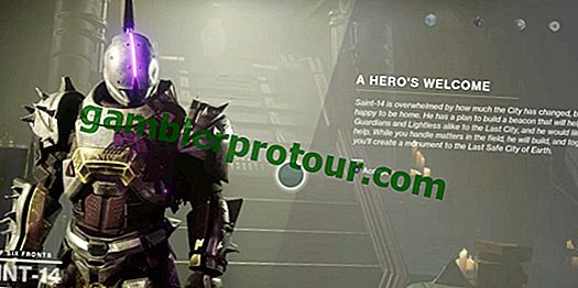 Saint-14 è apparso nella Torre di Destiny 2 con nuove missioni